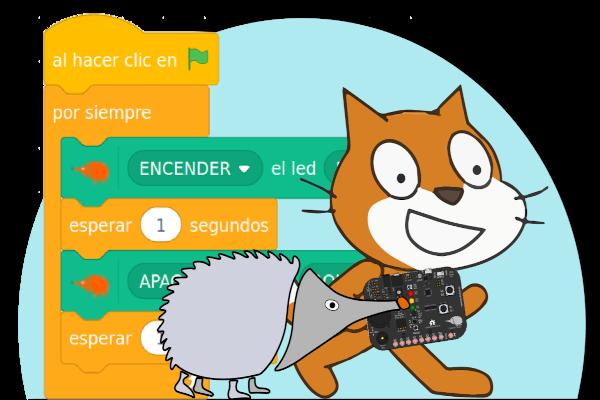 El gato Scratch y el erizo Echidna caminan juntos